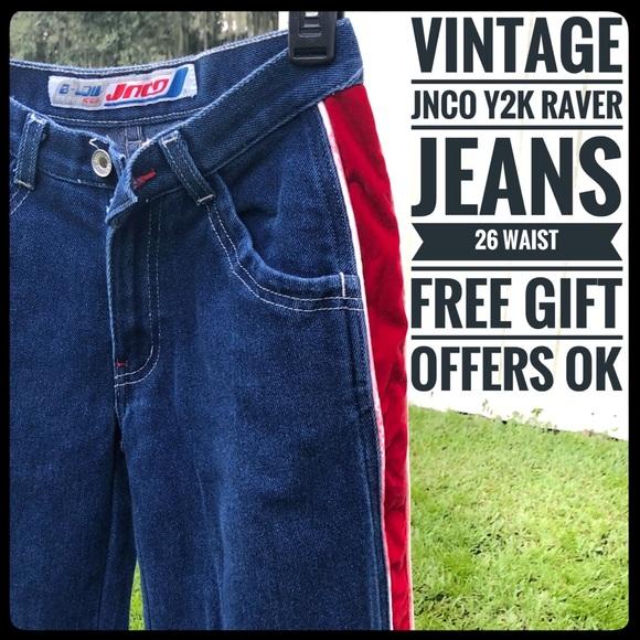 e30fcc849817a 26 w jnco vintage wide leg velvet stripe jeans y2k